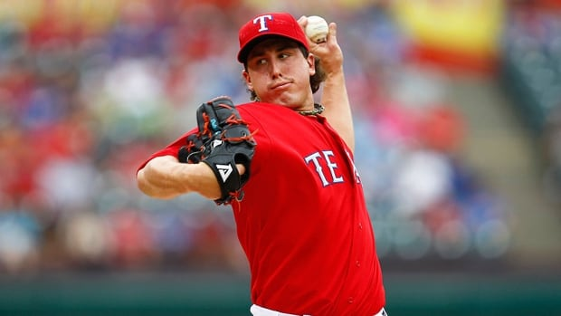 Texas Rangers pitcher Derek Holland was 10-9 with a 3.42 ERA in a team-high 33 starts last season and pitched a career-high 213 innings.