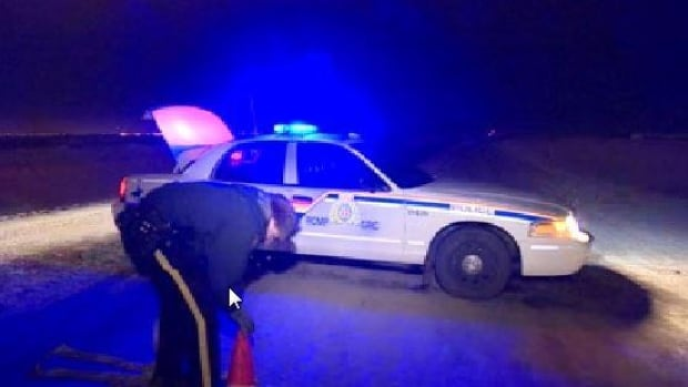 RCMP say one person was taken to hospital in critical condition following a crash on a rural road north of Saskatoon's airport Friday evening. Road conditions may have been a factor.