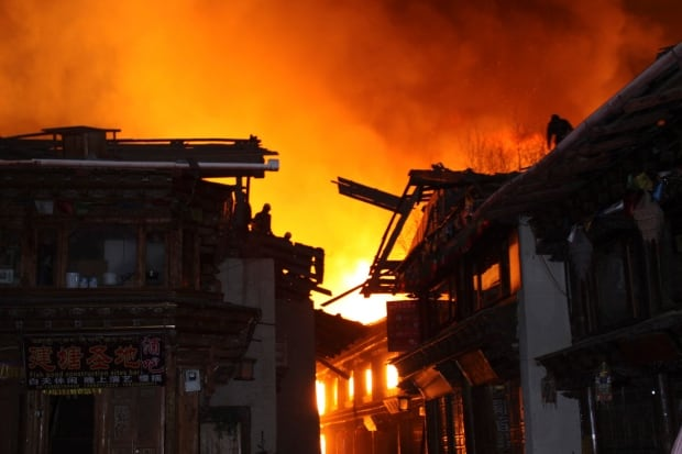 China Ancient Town Fire