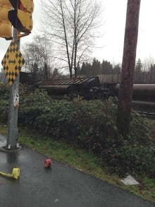 Coal train derailment Burnaby, B.C. Jan 11, 2014