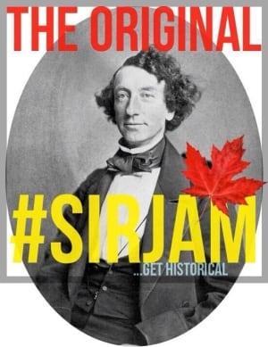 #SirJAM hashtag for Sir John A. Macdonald