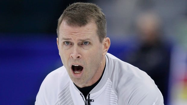 Skip Jeff Stoughton, shown here competing last month, earned a spot in the final of the curling skins game on Saturday.