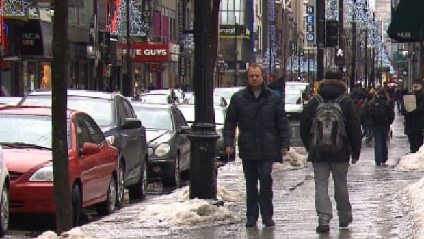 The City of Montreal is considering a proposal to turn part of Ste-Catherine Street into a pedestrian zone.
