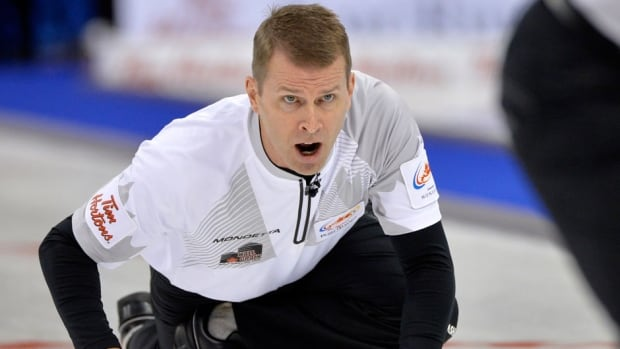 Jeff Stoughton, shown here last month, earned $70,500 in prize money for his win at the Curling Skins final Sunday.