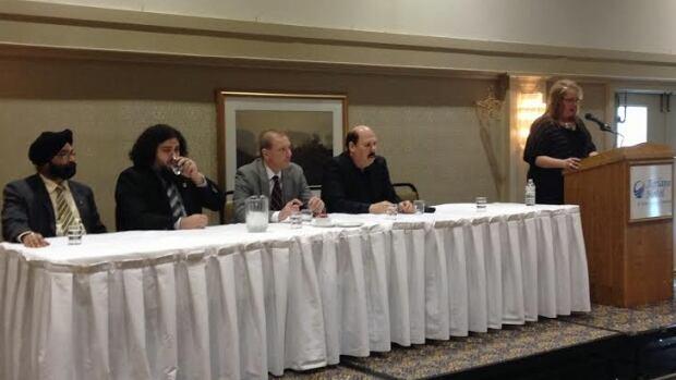 Sheila Kivisto at press conference