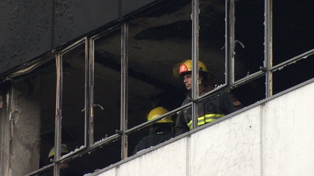 The fire broke out at the Hycroft apartment building in the South Granville district of Vancouver early Monday morning.