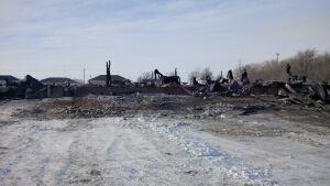 Burned trucks