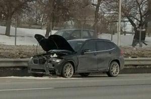 Concrete-damaged car