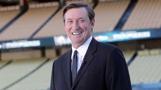 Wayne Gretzky speaks about the Dodger Stadium upcoming 2014 NHL Stadium Series hockey game in Los Angeles, on Monday.