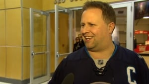 Scott Larson, Winnipeg Jets fan