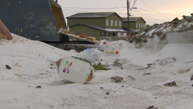 The City of Iqaluit is promising a new garbage policy to take charge of the litter that blows all over the city's streets. Meanwhile, Northern Properties is looking for alternatives to garbage bins that blow open in the wind.