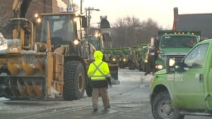 Snow removal on Military Road