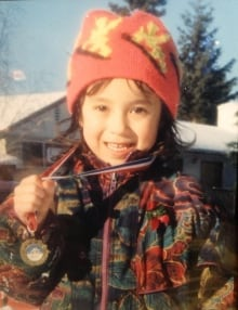 Emily Nishikawa at age 6