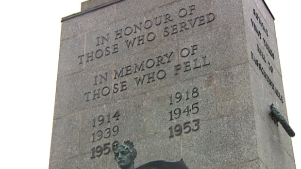 Halifax's cenotaph includes some wars, but not all.