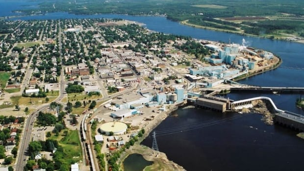 Resolute Forest Products pulp and paper mill in Fort Frances.