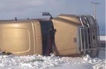 Truck rolls in Saskatoon