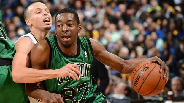 Point guard Jordan Crawford, right, is seen here driving against Stephen Curry of the Warriors in a Jan. 10 game. They are now teammates as Boston dealt Crawford to Golden State on Wednesday as part of a three-team trade.