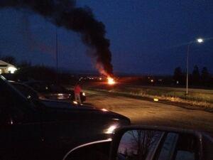 Truck fire Highway 102