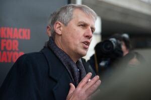 David Soknacki holds press conference