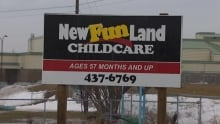 New Fun Land Daycare sign