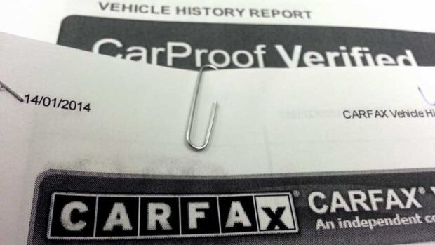 CarFax and CarProof reports