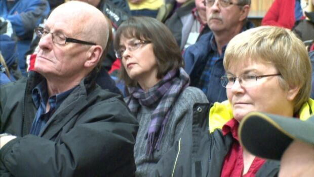 Residents of the Twillingate area filled the local Lions Club to speak out about leaking oil from the Manolis L.