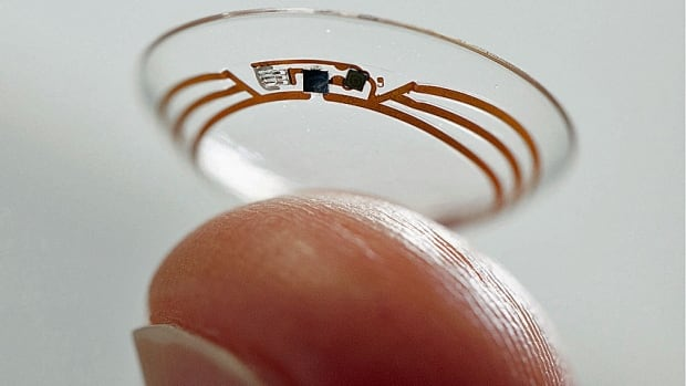 The smart contact lens for diabetics would measure glucose in tear fluid and send the data wirelessly to a mobile device.