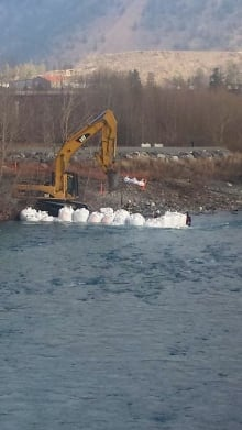 Water intake project work at Cayoose Creek