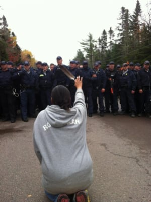 Elsipogtog Ossie Michelin protest photo