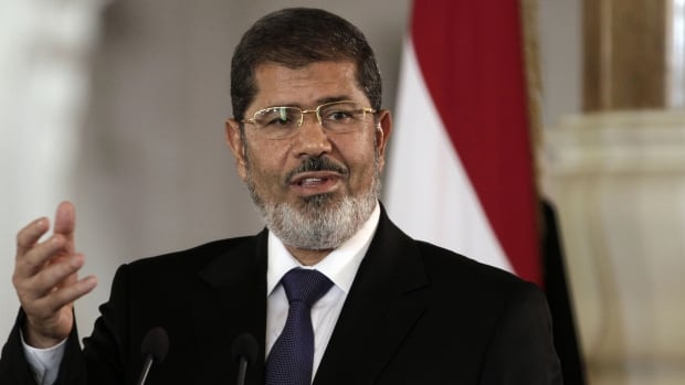 Egypt's prosecutors referred former president, Mohammed Morsi to trial Sunday, Jan. 19, 2014, on charges of insulting the judiciary and defaming its members to spread hate - the fourth case filed against him since his July ouster.