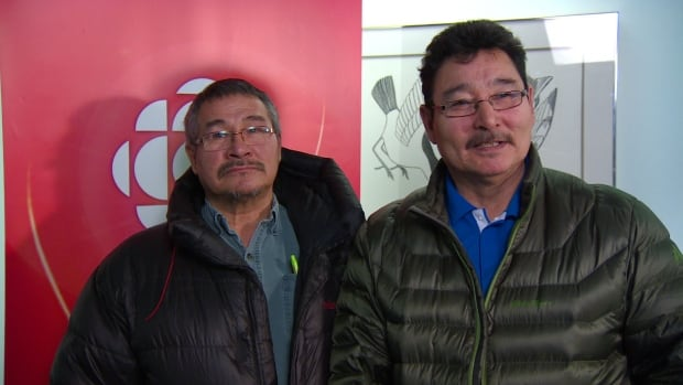 Joe Tigullaraq and Lucassie Ikkidluak are both members of an Iqaluit men's group that says it's time to break the taboo and start talking about suicide in Nunavut.