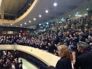 standing ovation in Knesset