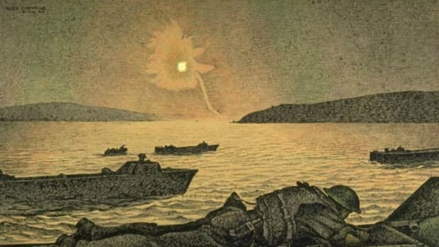 Alex Colville, A German Flare Goes Up