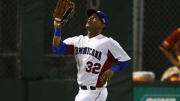 Ricardo Nanita in a game with the Dominican Republic against Venezuela during the World Baseball Classic at Hiram Bithorn Stadium on March 7, 2013 in Puerto Rico.