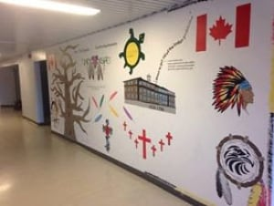Wall mural created by Marathon High School students
