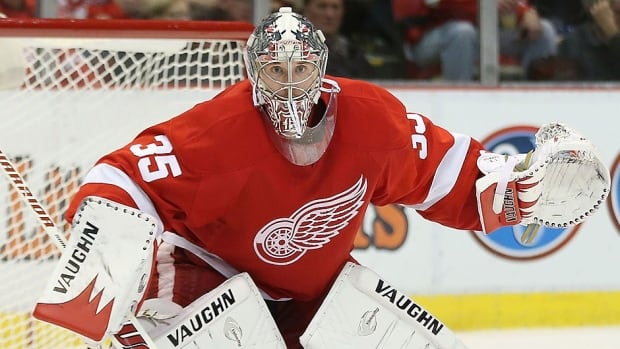 Red Wings goalie Jimmy Howard will miss at least a week of action with a left knee injury. Two months ago, he sprained a ligament in his left knee and missed eight games. He isn't concerned about missing the Sochi Olympics.