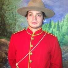Costumed RCMP
