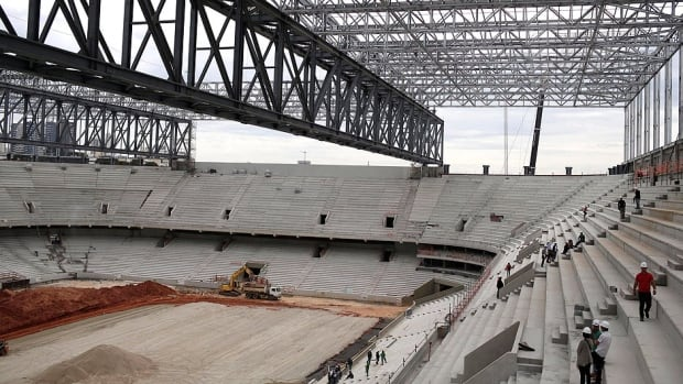 There is talk the Arena da Baixada stadium, pictured here in mid-December, won't be ready in time to host games at the 2014 World Cup in Curitiba, Brazil in the summer. Construction has been delayed to a lack of funding.
