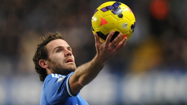 Chelsea's Spanish midfielder Juan Mata soon could be joining Manchester United, which has reportedly tabled a 40 million-pound ($66 million US) bid through a third party.