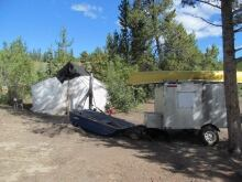 Poitr Kijewski camp near Scout Lake Yukon