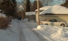 Laneway city Ottawa January 2014