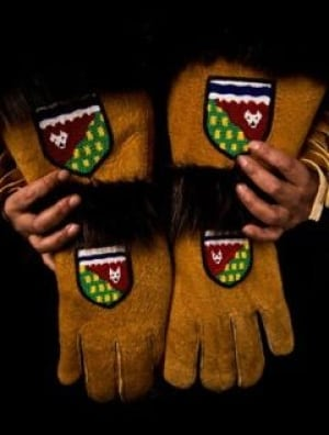 Olympic moosehide gloves
