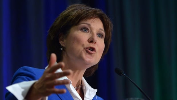 Premier Christy Clark gave the keynote address at the annual Truck Loggers Association Convention & Trade Show in Vancouver on Thursday, Jan. 16, 2014.