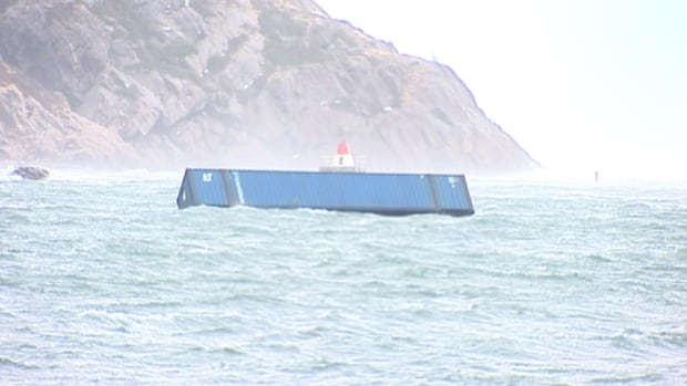 Rogue container in St. John's harbour