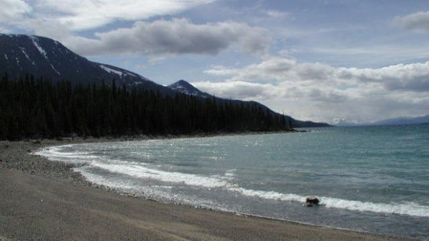 The area around the north end of Atlin Lake is the subject of legal disputes between the Taku River Tlingit First Nation and the governments of Canada and Yukon.