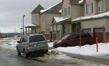 Suburban street parking
