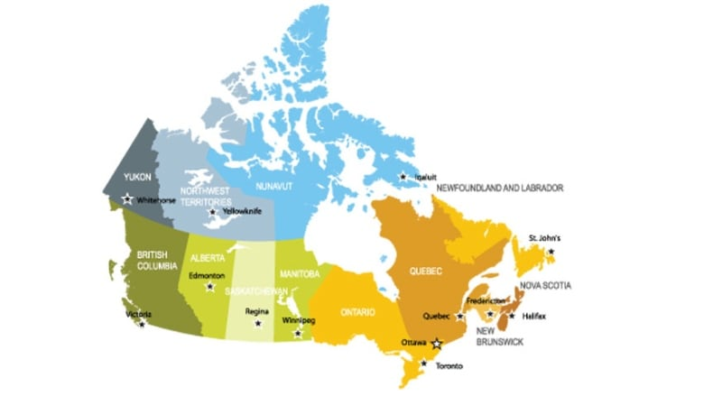 Map Of Canada Nova Scotia.Tax Season 2015 Where In Canada Do You Pay The Most Tax Cbc News
