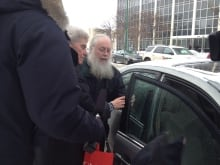 storheim leaving court after verdict
