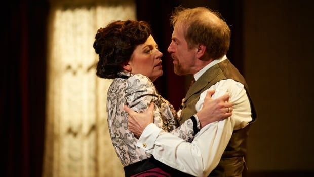 Sharon Bajer and Tom Rooney in The Seagull