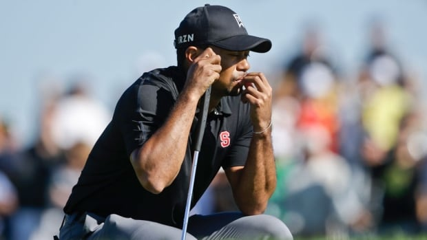 Tiger Woods fired a 79 at Torrey Pines on Saturday for his worst career round on American soil Saturday.